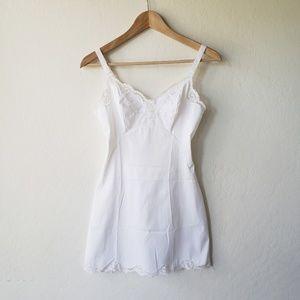 Vintage 60's White Lace Slip
